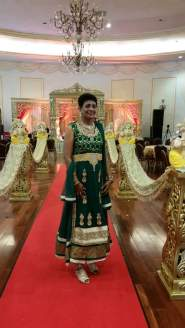 Baidwantie Shiwnandan Balgobin in a traditional Indian wear