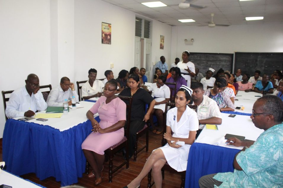 Management of the New Amsterdam Hospital as the met with the team from Ministry of Public Health, spearheaded by Minister Volda Lawrence