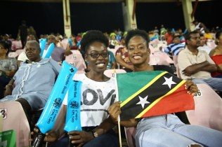 Spectators at the match lending support to their respective teams.
