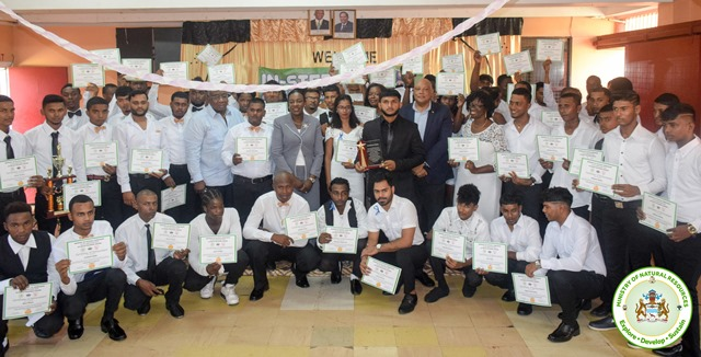 Minister of Education, Hon. Nicolette Henry and Minister of Natural Resources, Hon. Raphael Trotman among the In-STEP graduates.