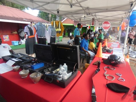 Paraphernalia of the Guyana Police Force (GPF) on exhibition.