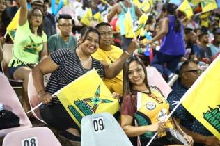 Spectators at the National Stadium in full support of the Guyana Amazon Warriors.