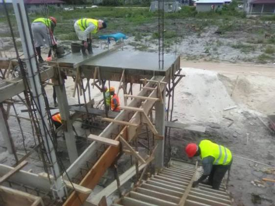 Construction of 15 out of 60 housing units happening in Phase Three Amelia's Ward.
