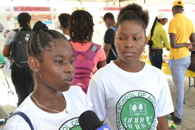 Dashawna Williams, a student of the Guyana School of Agriculture (GSA).