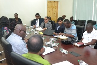 Stakeholders at the meeting.