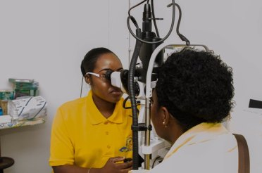 Patients being screened at the Georgetown Public Hospital Corporation's (GPHC) Eye Clinic.