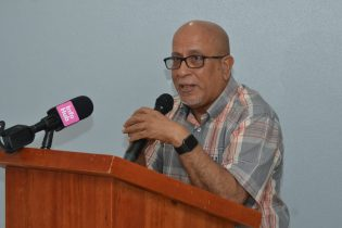 Director Operations at the Cancer Institute of Guyana, Dr. Sayed Ghazi