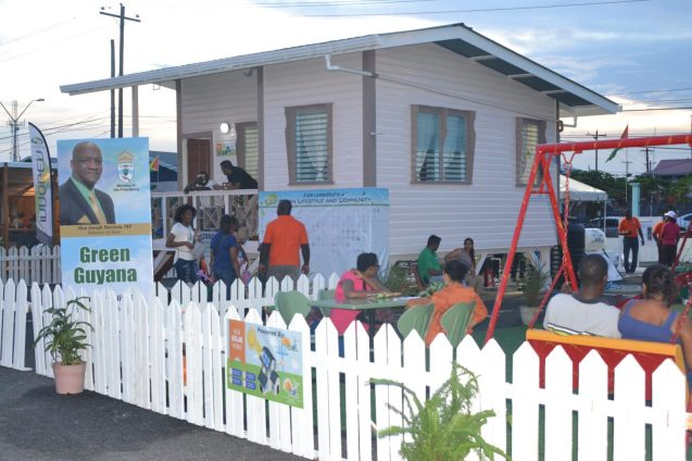 The Ministry of Communities and its agencies demonstrated a green community at the Green Guyana Expo