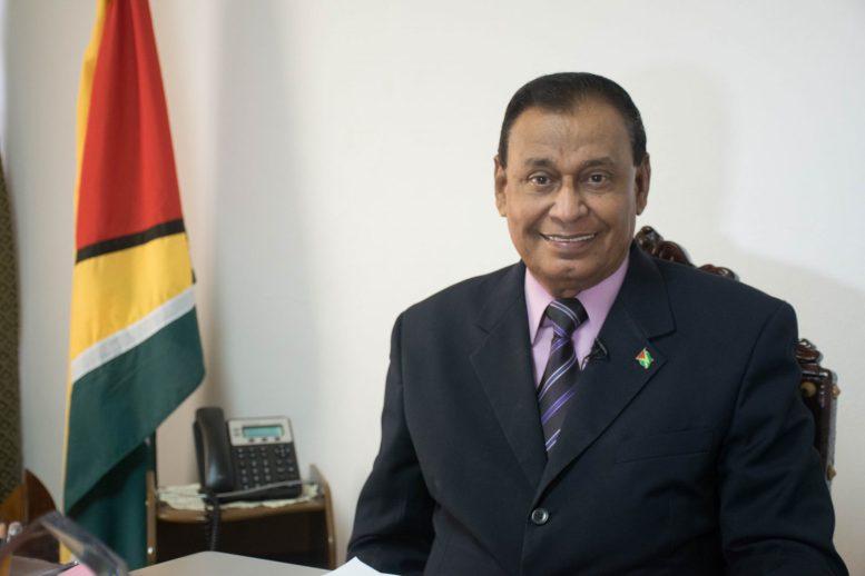 Guyana's Ambassador to Cuba, Halim Majeed