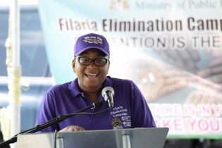 National Coordinator for the Neglected Infectious Diseases at the Ministry of Public Health, Dr. Fabu Moses-Stuart.
