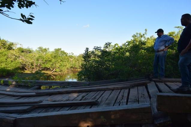 One of the bridges, linking the communities, slated to be rehabilitated.