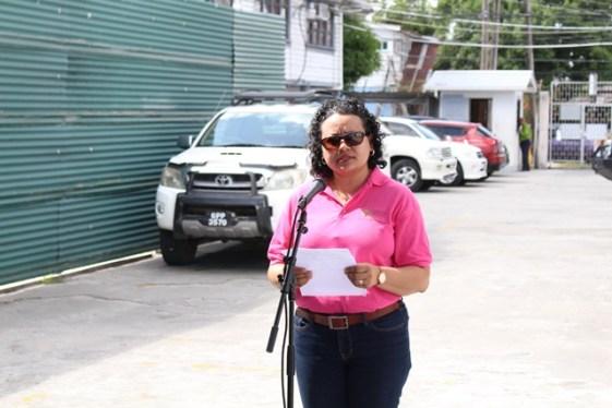 Cancer Institute of Guyana representative, Fiona Legall.