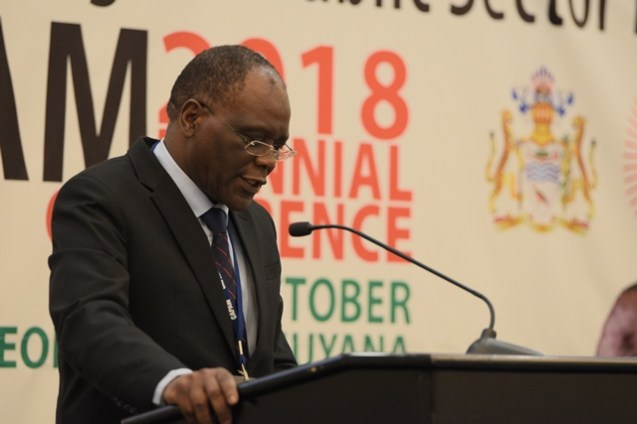 Secretary to Cabinet and Head of the Public Service in Zambia, Dr. Roland Msiska.