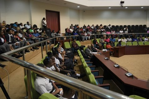 Students and stakeholder in attendance at the launch of the Institute for Food and Nutrition Security.