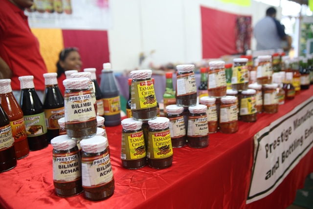 Local products on display.