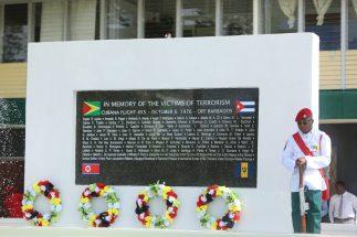 Cubana Air Tragedy Monument site at the University of Guyana Turkeyen Campus