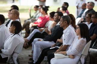 Some of the relatives and friends of the victims who attended the 42nd Anniversary of the Cubana Air Tragedy