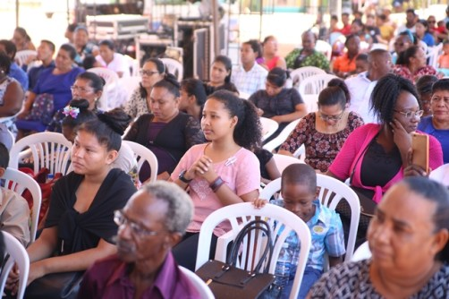 A section of the gathering at the church service.