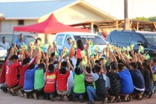 St. Ignatius Secondary school students performing a dance.