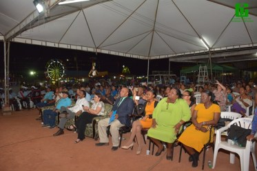 A section of the crowd of attendees during the launch of Lethem Town Week.