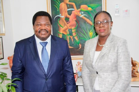His Excellency, Dr. Emmanuel John Nchimbi, Non-Resident High Commissioner (Designate) for the United Republic of Tanzania and Minister of Education, Hon. Nicolette Henry.