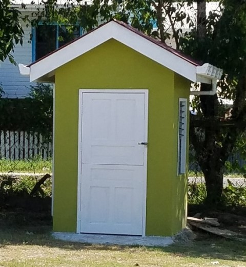 New guard hut at the school.