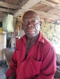Yourick Munroe, a 77-year-old farmer from the community.