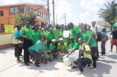 APNU team members on nomination day.