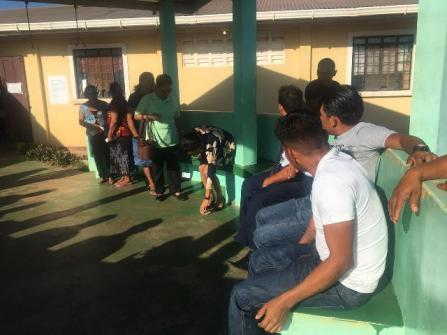 Voters at Tabatinga Sports Complex and the Culvert City Nursery School.