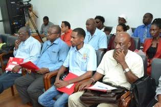 Attendees at the Guyana Fire Service's stakeholder consultation at the Arthur Chung Conference Centre (ACCC).