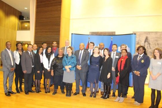 The Guyana delegation among representatives of the EU