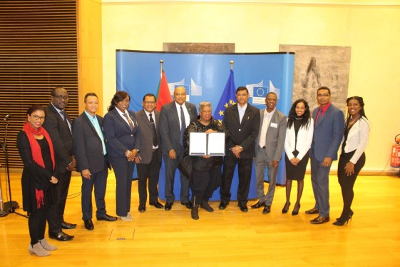 Members of the Guyana delegation present at the signing