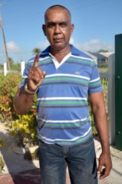 Deodat Singh, Somerset and Berks, Essequibo resident after casting his vote