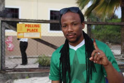 MP Jermaine Figueira after casting his ballot earlier in the day.