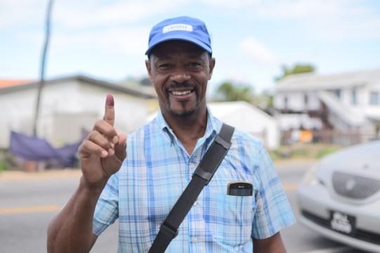 Voter, Aubrey Gonsalves.
