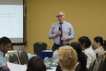 IDB consultant, Professor Dr. Tom Johnson working with the government led the workshop