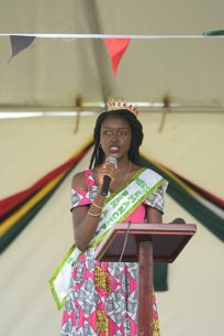A poem being performed by a student of Region Three.