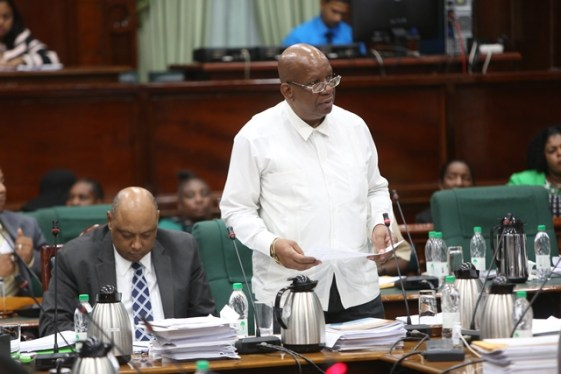 Minister of Finance, Winston Jordan during the 99th Sitting of the National Assembly.
