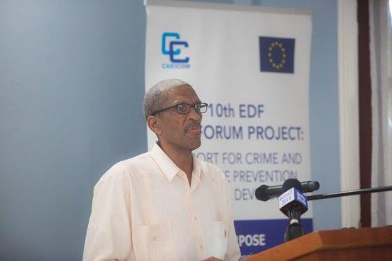 Assistant Secretary General, Human and Social Development CARICOM Secretariat, Dr Douglas Slater.