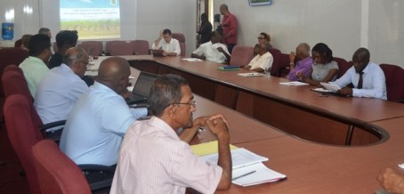 Members of the GuySuCo Board of Directors during the presentation.