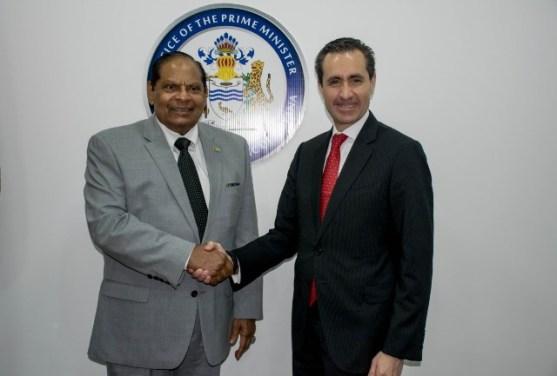 Prime Minister and Mr. Jorge Familiar.