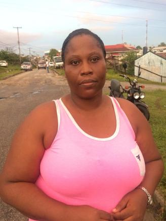 Zeneetha Simon, who was among the last voters to cast their ballots in Constituency Three in Bartica
