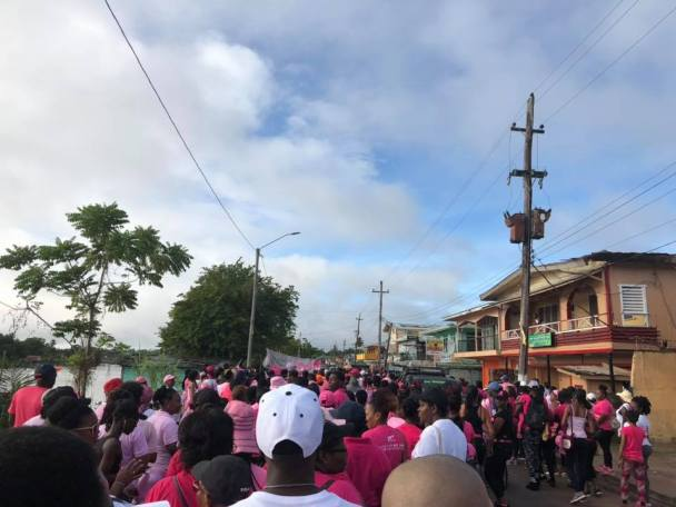 Scenes from the Linden Cancer Awareness Walk