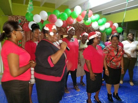 Region Three Teacher's Choir serenading the audience with carols