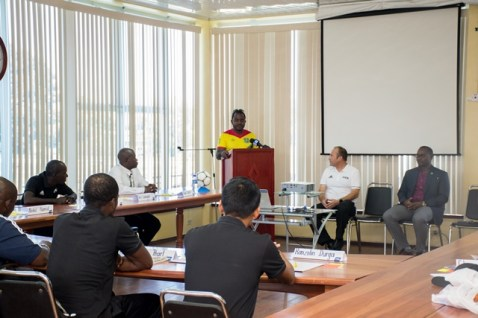 Participating Referees at the Futsal workshop.