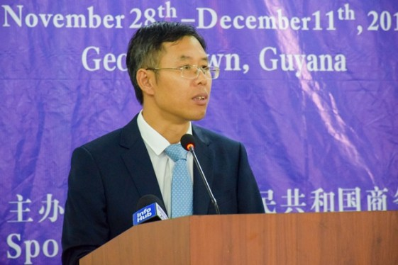 Councilor of the Chinese Embassy in Guyana, Chen Xilai.