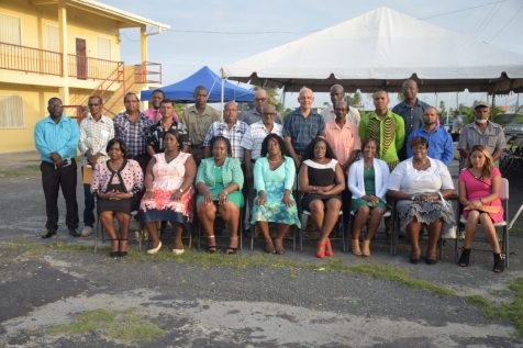 Minster of Communities Ronald Bulkan along with NDC Councilors and officials from Region 5