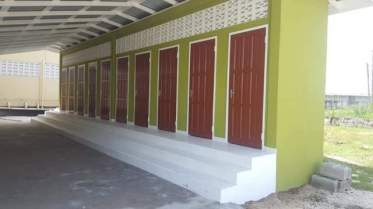 The lavatory facilities, 12 schools have similar facilities for the first time.