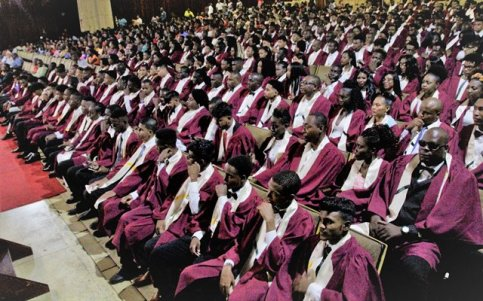 Graduates at the 67th Convocation and Prize Giving Ceremony.