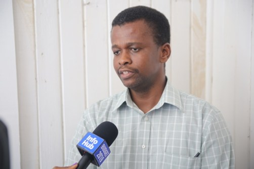 Technical Services Manager of the Ministry of Public Infrastructure, Nigel Erskine.